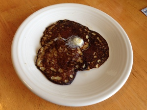 "Banana protein ""pancakes"""