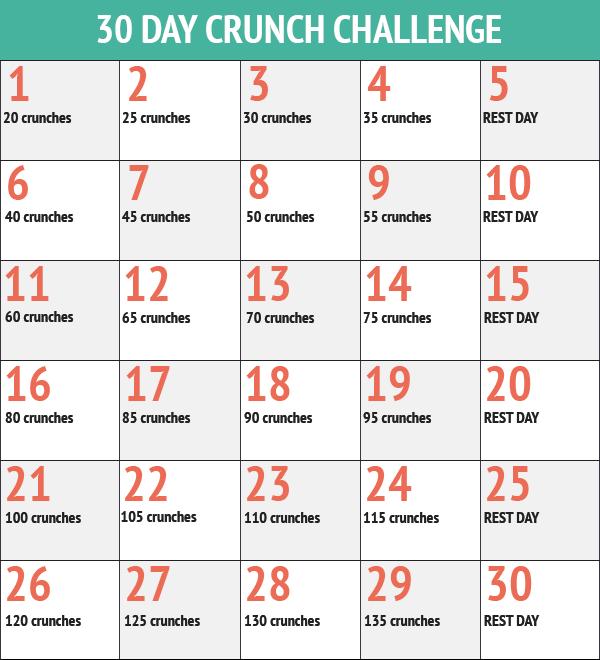 30-day Ab Crunch Challenge