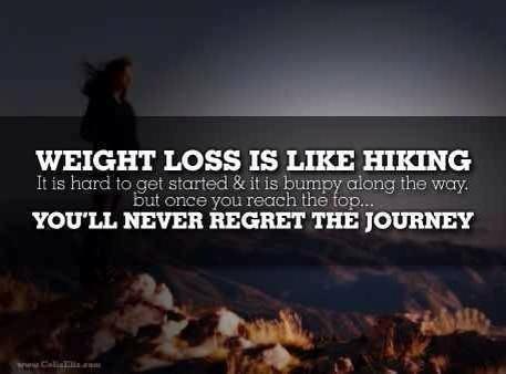 weightloss is like hiking